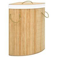 vidaXL sarok bambusz szennyestartó kosár 60 L