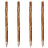 vidaXL 4 db kihegyezett mogyorófa kerítésoszlop 150 cm