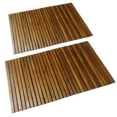 2 db akác fa fürdőszoba szőnyeg 80 x 50 cm,