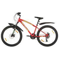 vidaXL 21 sebességes piros mountain bike 26 hüvelykes kerékkel 36 cm