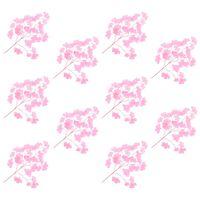 vidaXL 10 darab rózsaszín mű páfrányfenyő levél 65 cm