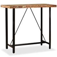 vidaXL tömör újrahasznosított fa bárasztal 120 x 60 x 107 cm