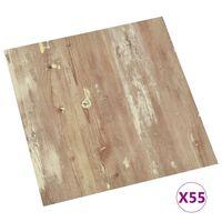 vidaXL 55 db barna öntapadó PVC padlólap 5,11 m²