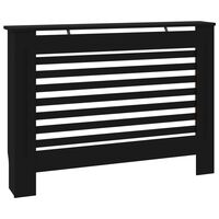 vidaXL fekete MDF radiátorburkolat 112 x 19 x 81 cm