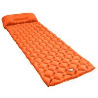 vidaXL narancssárga felfújható matrac párnával 58 x 190 cm