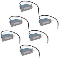 6 db lépcsőbe építhető LED lámpa / kültéri lámpa 44 x 111 x 56 mm