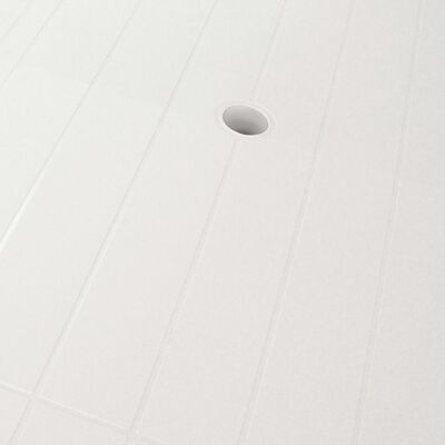 vidaXL 7-részes fehér műanyag kültéri étkezőgarnitúra