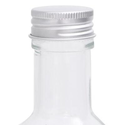 vidaXL 12 db négyszögletes 250 ml-es üvegpalack csavaros kupakkal