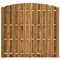 vidaXL hit & miss stílusú fenyőfa kerítéspanel 180 x (155-170) cm