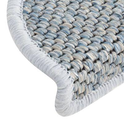 vidaXL 15 db szizál hatású kék öntapadó lépcsőszőnyeg 56 x 20 cm