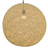 vidaXL krémszínű gömb alakú függőlámpa 55 cm E27