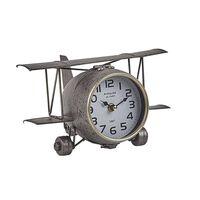 Ezüst Repülő Formájú Asztali Óra 15 Cm Stans