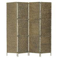 vidaXL barna 4-paneles vízijácint paraván 154 x 160 cm