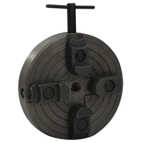 vidaXL fekete acél 4 pofás fatokmány M18 csatlakozóval 150 x 63 mm