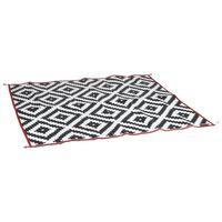 Bo-Camp Chill mat Lounge fekete-fehér kültéri szőnyeg 2,7 x 2 m