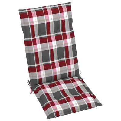 vidaXL 3 db összecsukható tömör akácfa kerti szék párnával