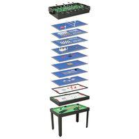 vidaXL fekete 15 az 1-ben játékasztal 121 x 61 x 82 cm