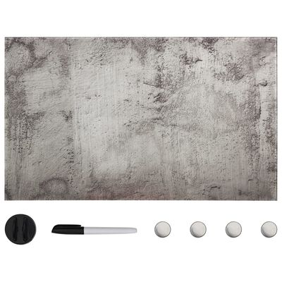 vidaXL fekete, falra szerelhető mágneses üvegtábla 100 x 60 cm