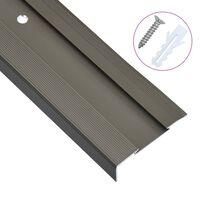 vidaXL 15 db barna L-alakú alumínium lépcső élvédő 90 cm