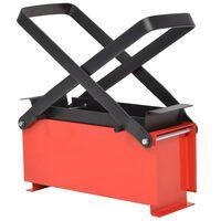 vidaXL fekete és piros acél papír brikettáló 34 x 14 x 14 cm