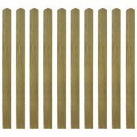vidaXL 30 db impregnált fa kerítésléc 120 cm