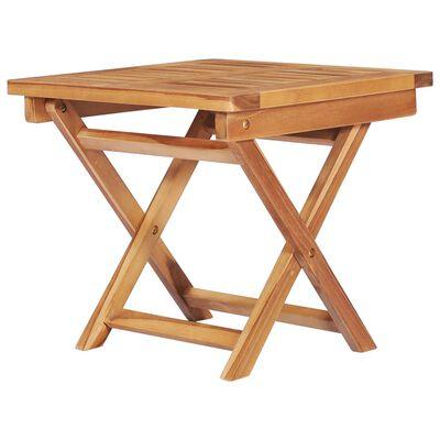 vidaXL 2 db tömör tíkfa napozóágy asztallal és párnával