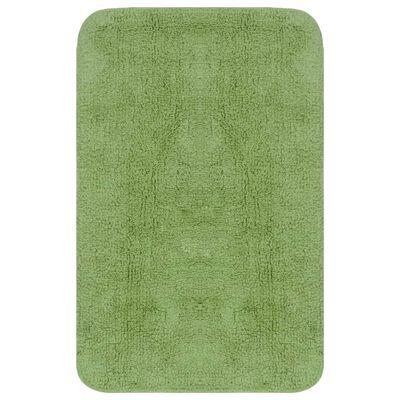 vidaXL 3 darabos zöld szövet fürdőszobaszőnyeg-garnitúra