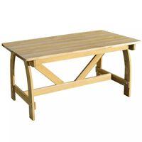 vidaXL impregnált fenyőfa kerti asztal 150 x 74 x 75 cm