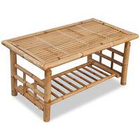 vidaXL  bambusz dohányzóasztal 90 x 50 x 45 cm
