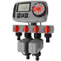 42352 vidaXL Automata öntözés időzítő 4 Állomások 3 V