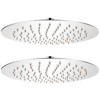 vidaXL 2 db rozsdamentes acél esőztető zuhanyfej Ø 25 cm