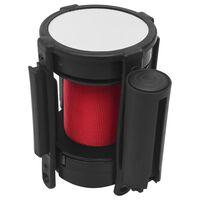 vidaXL piros visszahúzható szíjas elválasztókorlát 200 cm