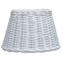 vidaXL fehér fonott vessző lámpabúra 38 x 23 cm