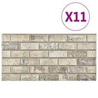 vidaXL 11 db EPS 3D fali panel homokszínű tégla dizájnnal