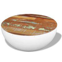 vidaXL csésze alakú újrahasznosított fa dohányzóasztal 60 x 60 x 30 cm