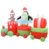 vidaXL felfújható LED-es karácsonyi pingvin és egér vonaton IP44 350cm