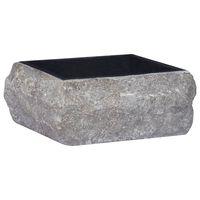 vidaXL fekete márvány mosdókagyló 30 x 30 x 13 cm