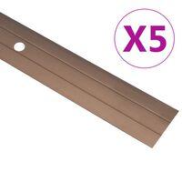 vidaXL 5 db barna alumínium padlóprofil 90 cm
