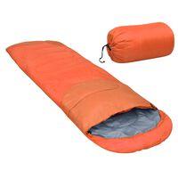 vidaXL narancssárga könnyű hálózsák 15℃ 850 g