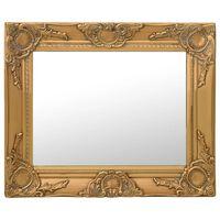 vidaXL aranyszínű barokk stílusú fali tükör 50 x 40 cm