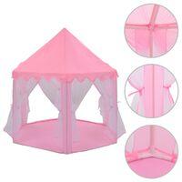 vidaXL rózsaszín hercegnős játszósátor