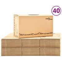 vidaXL 40 db karton költöztetődoboz XXL 60 x 33 x 34 cm