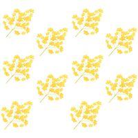 vidaXL 10 darab sárga mű páfrányfenyő levél 65 cm