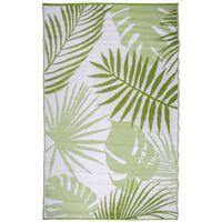 Esschert Design dzsungel levél mintás kültéri szőnyeg 241x152 cm OC22