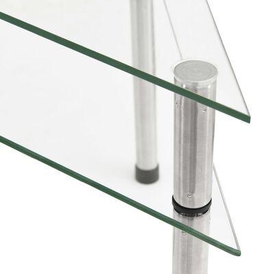 vidaXL átlátszó edzett üveg konyhai polc 49,5 x 35 x 19 cm