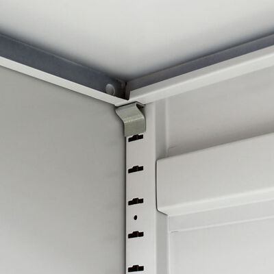 vidaXL szürke kétajtós acél irodai szekrény 90 cm