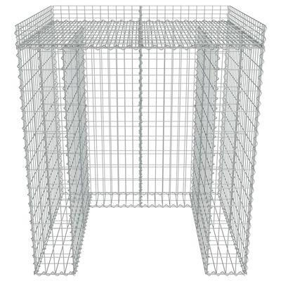 vidaXL horganyzott acél gabion fal szemeteskukához 110 x 100 x 130 cm