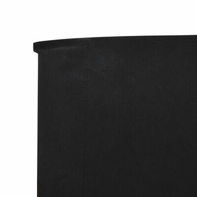 vidaXL tópszínű 6-paneles szövet szélfogó 800 x 80 cm