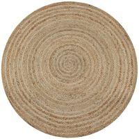 vidaXL kör alakú, fonott juta szőnyeg 90 cm