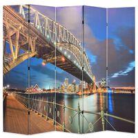 vidaXL Sydney-i Kikötőhíd mintás paraván 200 x 170 cm